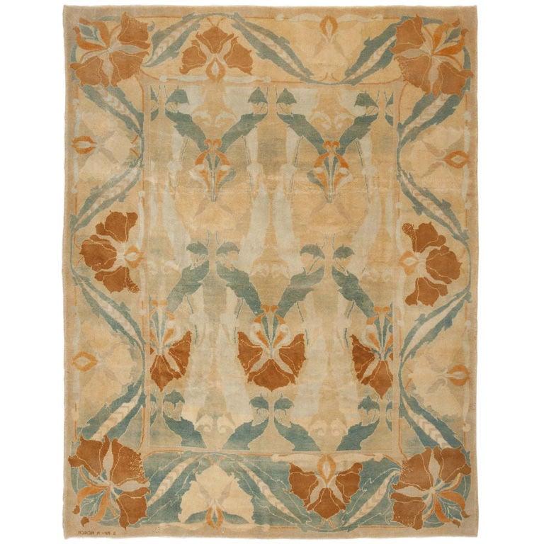 continental arts and crafts rug at 1stdibs