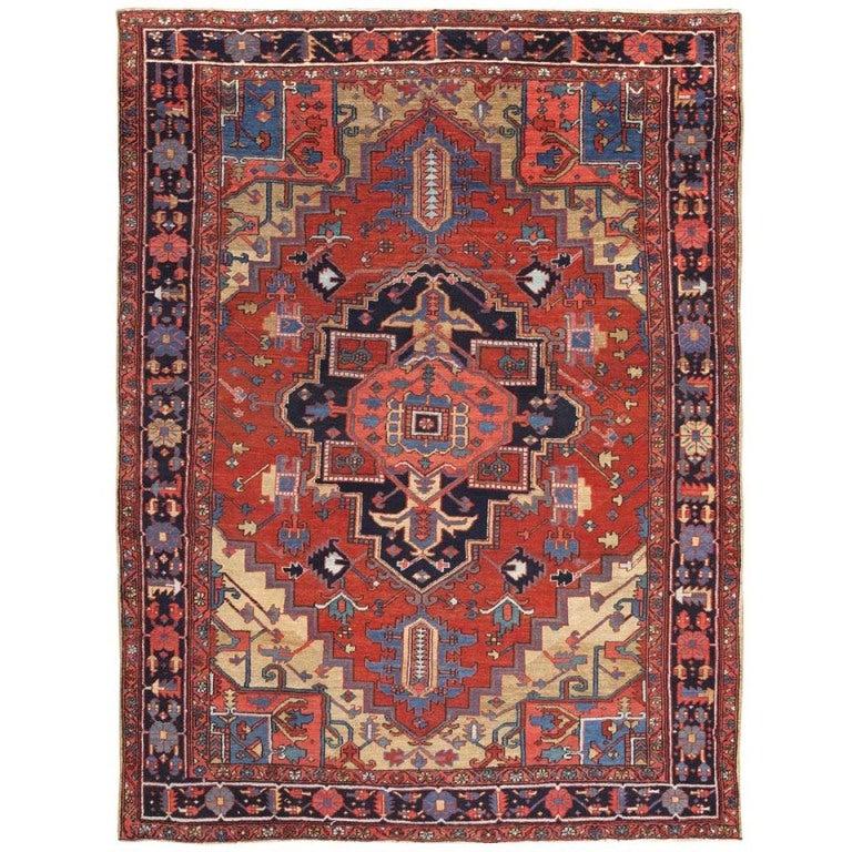 Antique Persian Heriz Rug Bb2402: Antique Persian Heriz Rug At 1stdibs
