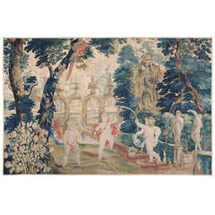 18th Century Flemish Tapestry Pastoral