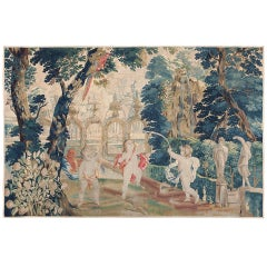 "18th Century Flemish Tapestry Pastoral. Size: 10' 3"" x 7' (3.12 m x 2.13 m)"