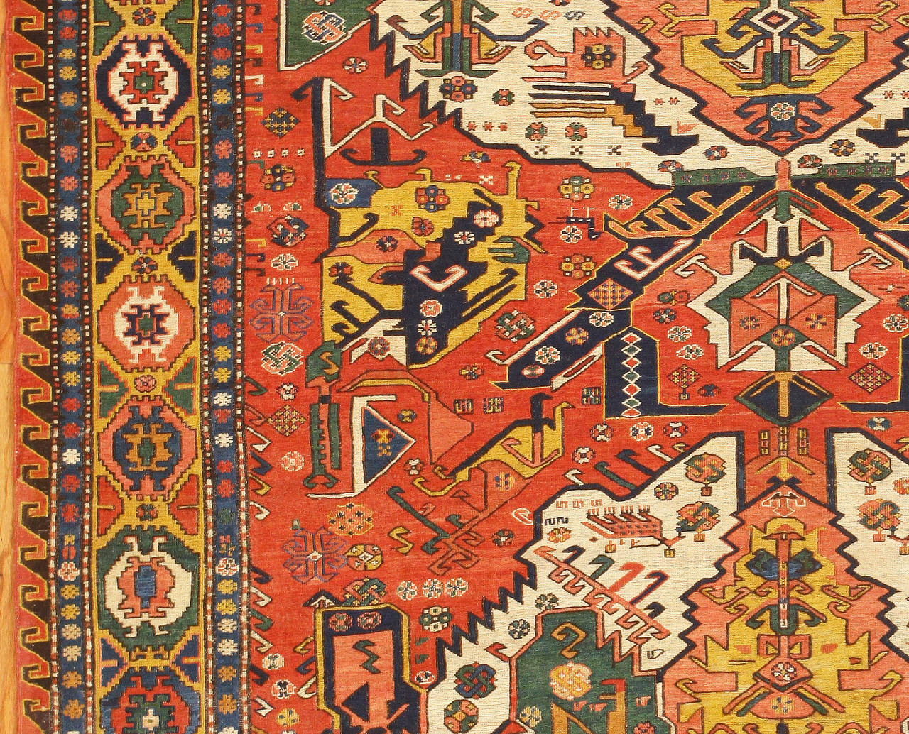 Antique Caucasian Soumak Rug The Caucasus Circa Final Quarter Of 19th Century