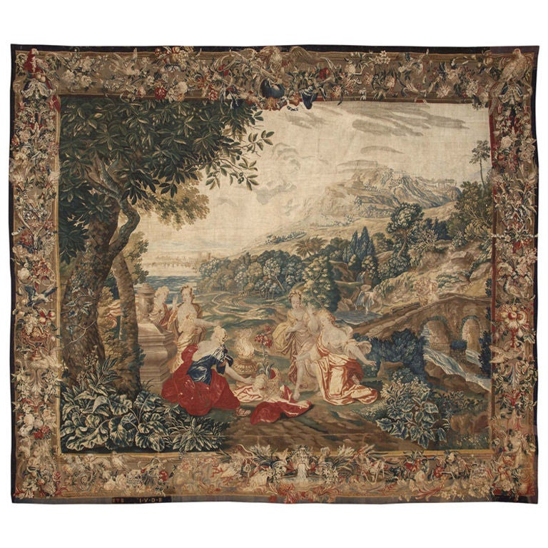 17th Century Flemish Tapestry At 1stdibs