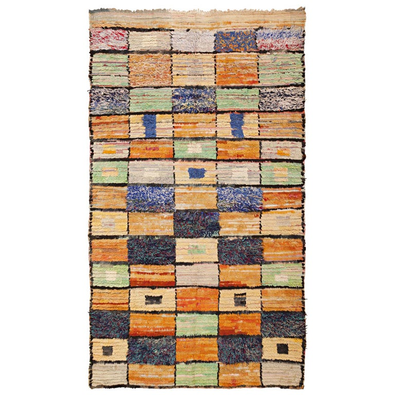 Mid Century Modern Moroccan Rug At 1stdibs