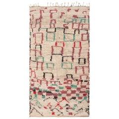 Mid-Century Style Modern Moroccan Rug