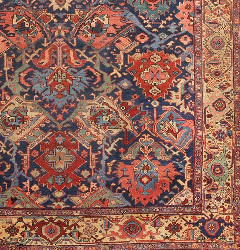 Persian Dragon: Antique Persian Dragon Heriz Rug At 1stdibs