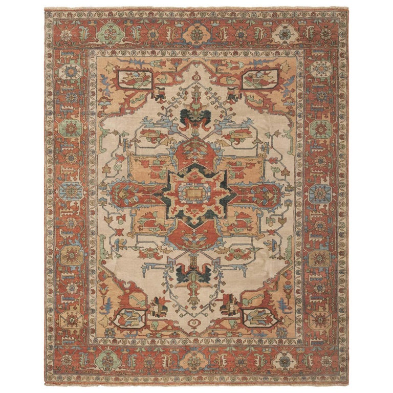 Modern Serapi Indian Rug At 1stdibs