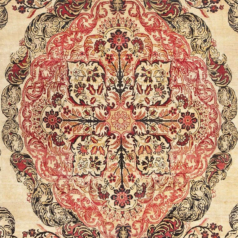Antique Kerman Persian Rug at 1stdibs
