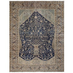 Antique Tabriz Persian Prayer Design Rug