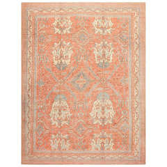 Large Antique Turkish Oushak Rug