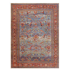 Antique Light Blue Persian Sultanabad Carpet