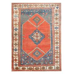 Large Antique Persian Bakshaish Carpet