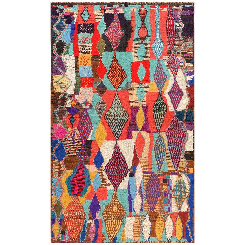Vintage Moroccan Area Rug For Sale At 1stdibs: Colorful Vintage Moroccan Rug At 1stdibs
