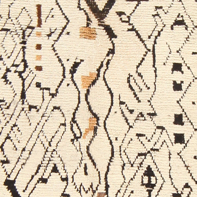 20th Century Sophisticated Vintage Moroccan Rug For Sale