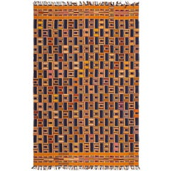 Antique African Ewe Kente Textile. Size: 5 ft 9 in x 8 ft 7 in (1.75 m x 2.62 m)