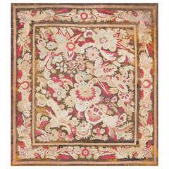 Antique Large-Scale Design French Aubusson Carpet