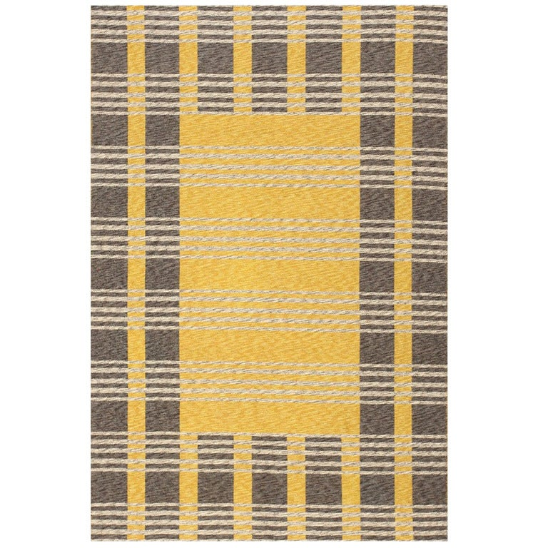 Vintage Double-Sided Swedish Kilim. Size: 4 ft 6 in x 6 ft 8 in