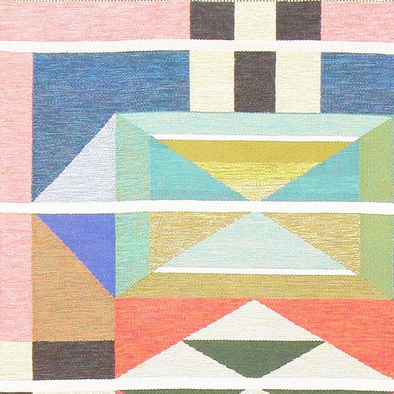 Vintage Swedish Runner Rug by Agda Österberg In Excellent Condition For Sale In New York, NY