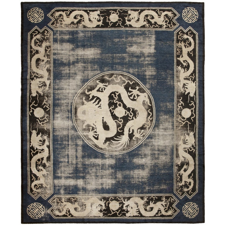 Antique Chinese Rug: Antique Ningsia Chinese Rug At 1stdibs