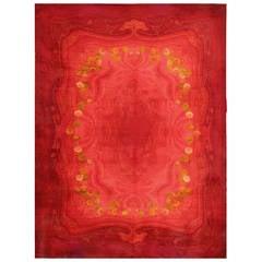 Vintage Art Nouveau Wilton Carpet