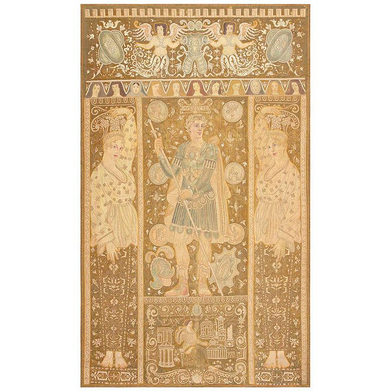 Antique Italian Tapestry Caesar Augustus. Size: 8 ft x 12 ft (2.44 m x 3.66 m) For Sale