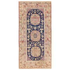 Beautiful Antique Khotan Carpet from East Turkestan