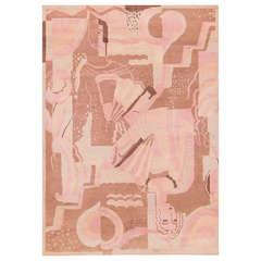 French Art Deco Carpet by Décoration Intérieure Moderne signed DM