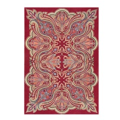 Rare Antique Art Nouveau American Hooked Rug. Size: 5 ft 7 in x 8 ft