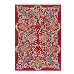 Rare Antique Art Nouveau American Hooked Rug