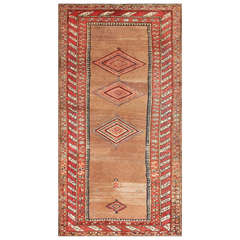 Small Tribal Antique Kurdish Persian Rug