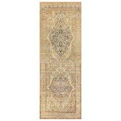Long Antique Persian Tabriz Rug
