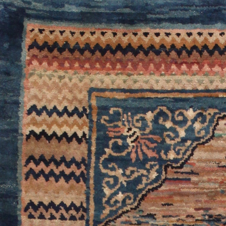 Vintage Turkish Rug influenced by Mongolian Style Rugs For ... |Mongol Rug