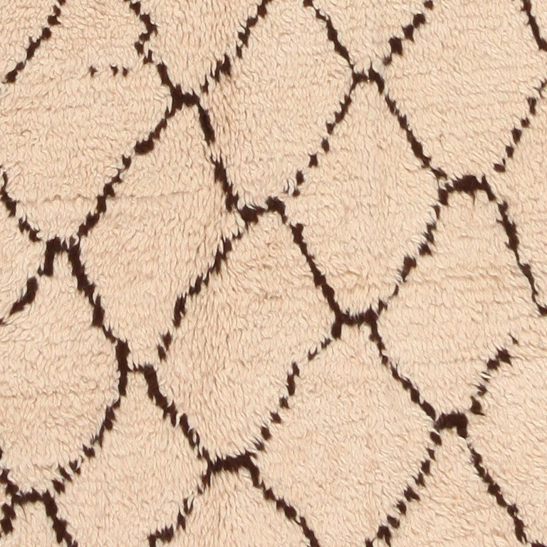 Hand-Woven Vintage Moroccan Rug