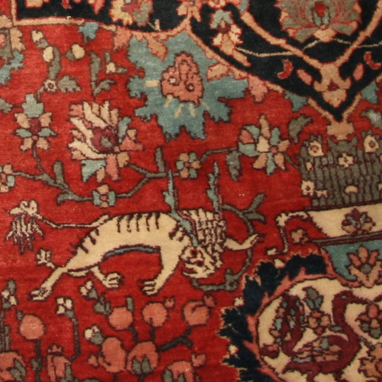Antique Cotton Agra Rug With Abrash Circa 1900 For Sale: Antique Silk And Wool Indian Agra Rug At 1stdibs