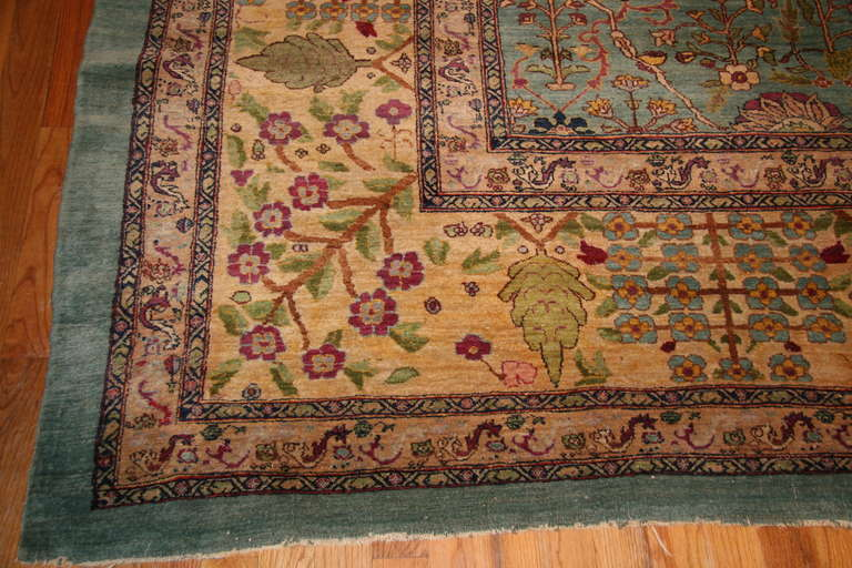 Antique Agra Rug For Sale 1