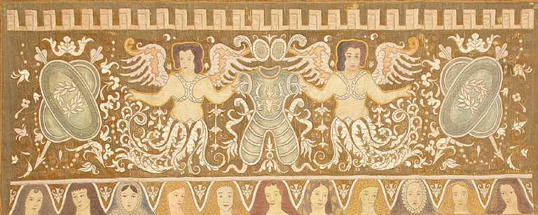 Magnificent Antique Italian Tapestry Depicting Caesar Augustus, Country Of Origin: Italy, Circa Date: 1880's. Size: 8 ft x 12 ft (2.44 m x 3.66 m)  This breathtaking historical antique tapestry rug comes from Italy and depicts the iconic Caesar