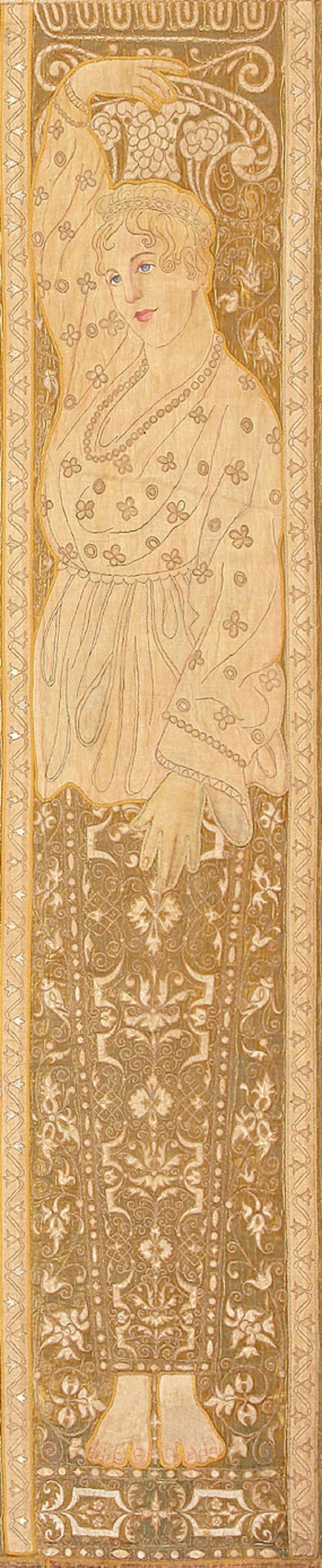 Antique Italian Tapestry Caesar Augustus. Size: 8 ft x 12 ft (2.44 m x 3.66 m) In Excellent Condition For Sale In New York, NY