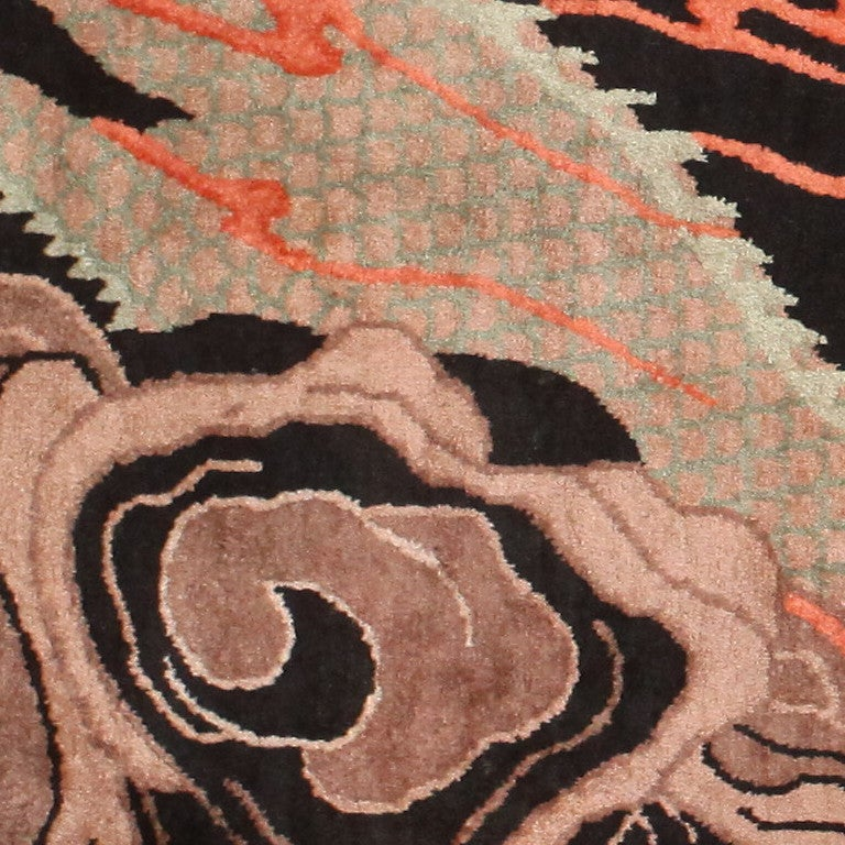 Beautiful Antique Chinese Dragon Rug At 1stdibs