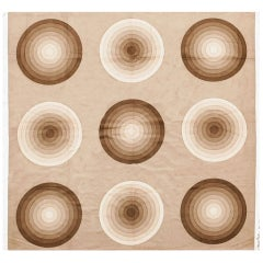 Vintage Verner Panton Kreis 'Spectrum' Textile. Size: 3 ft 9 in x 3 ft 10 in