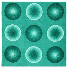 Vintage Verner Panton Kreis 'Spectrum' Textile. Size: 3 ft 10 in x 3 ft 10 in