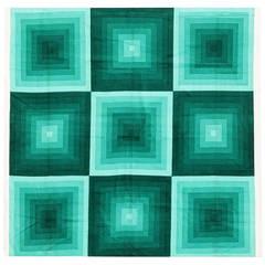 Vintage Verner Panton Quadrat Textile in Green