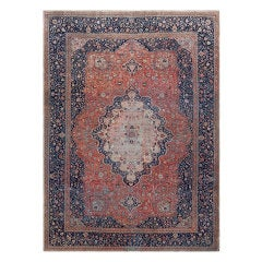 Antique Persian Mohtashem Kashan Rug