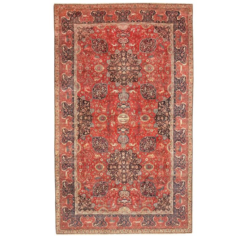 Deep Burgundy Indian Agra Rug For Sale At 1stdibs: Antique Silk And Wool Indian Agra Rug At 1stdibs