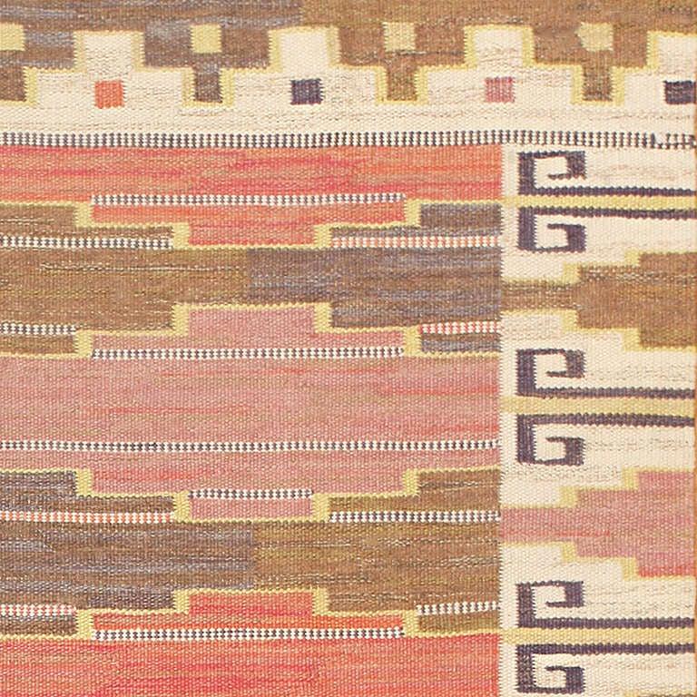 Kilim Vintage Scandinavian Rug by Marta Maas-Fjetterström For Sale
