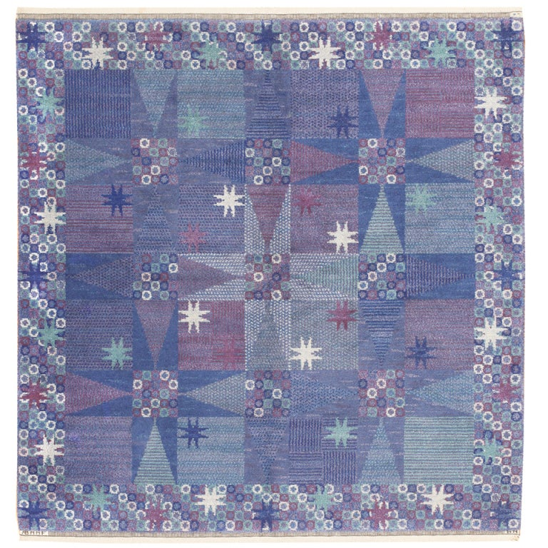 Vintage Scandinavian Carpet by Marta Maas-Fjetterström