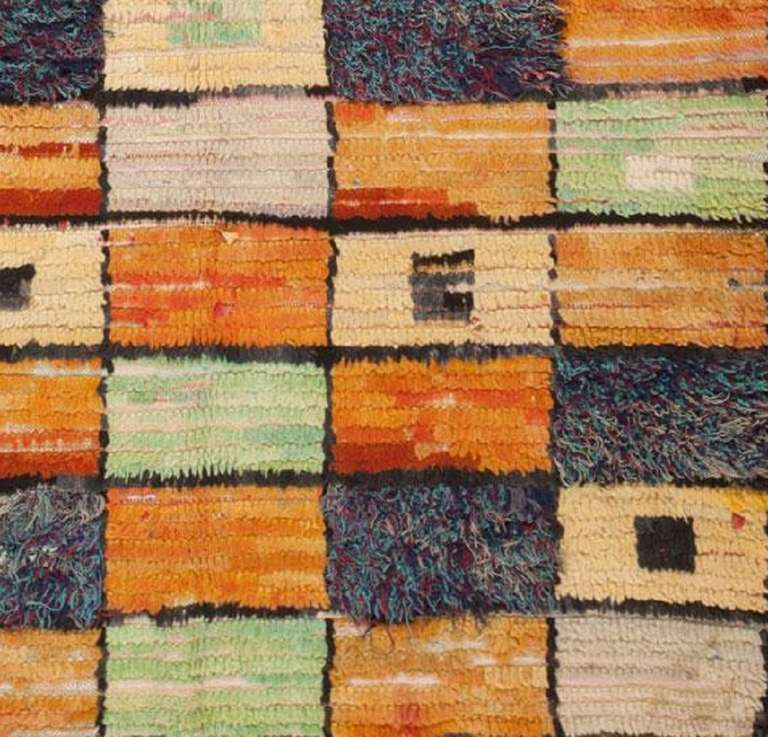 Mid-Century Modern Moroccan Rug At 1stdibs