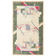 Cotton Indian Art Deco Rug
