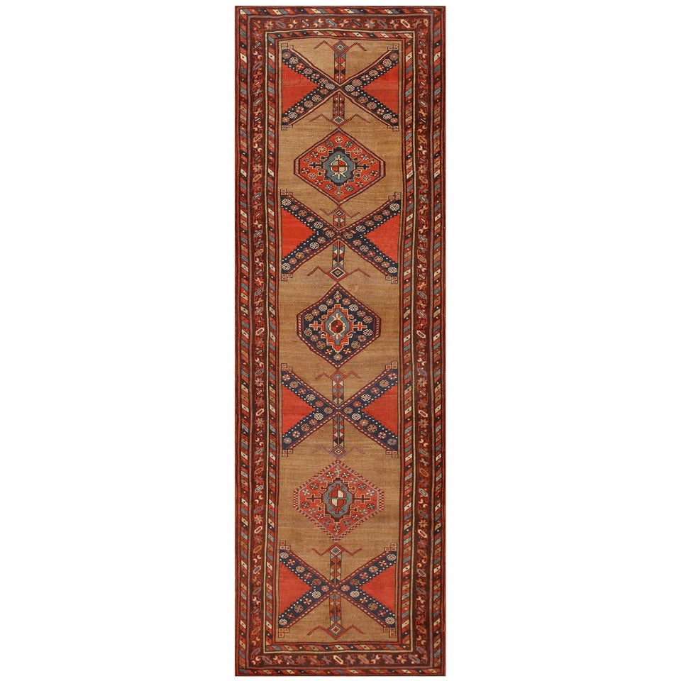 Antique Persian Serab Runner Rug At 1stdibs