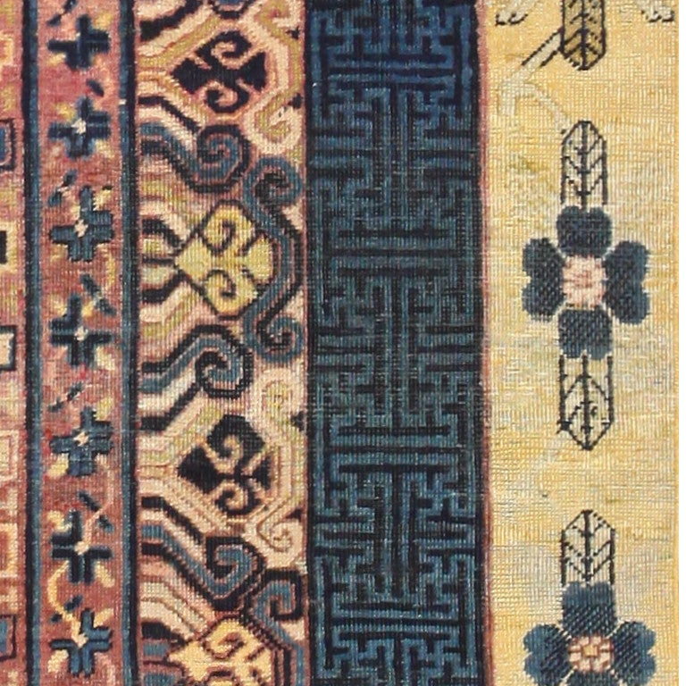 20th Century Antique Khotan Runner Rug from East Turkestan For Sale