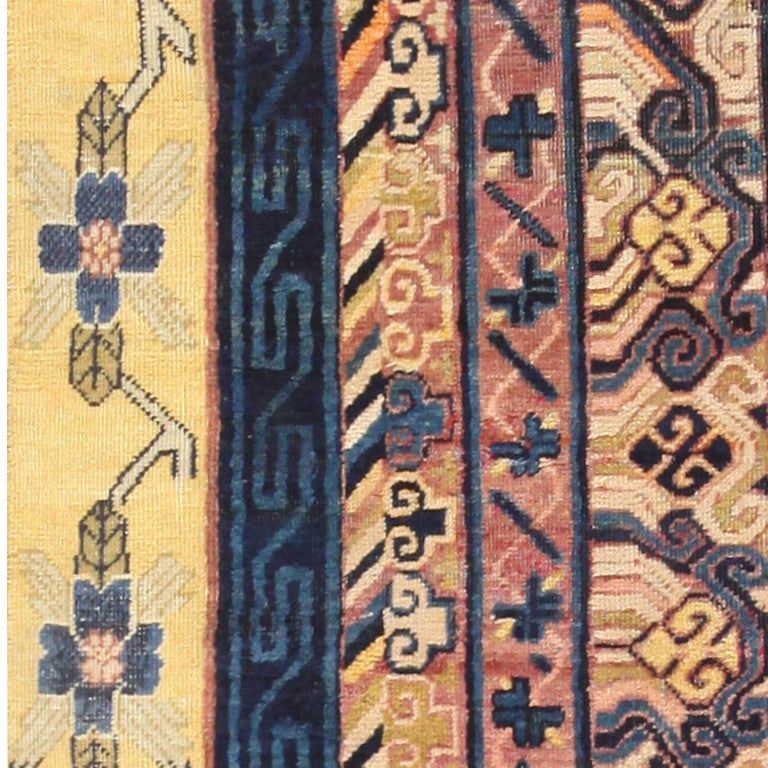 Antique Khotan Runner Rug from East Turkestan For Sale 1