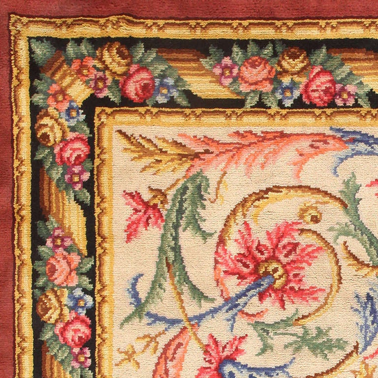 Antique Spanish Savonnerie Rug For Sale At 1stdibs